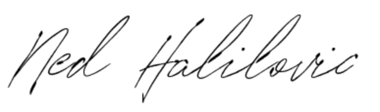 ned halilovic signature